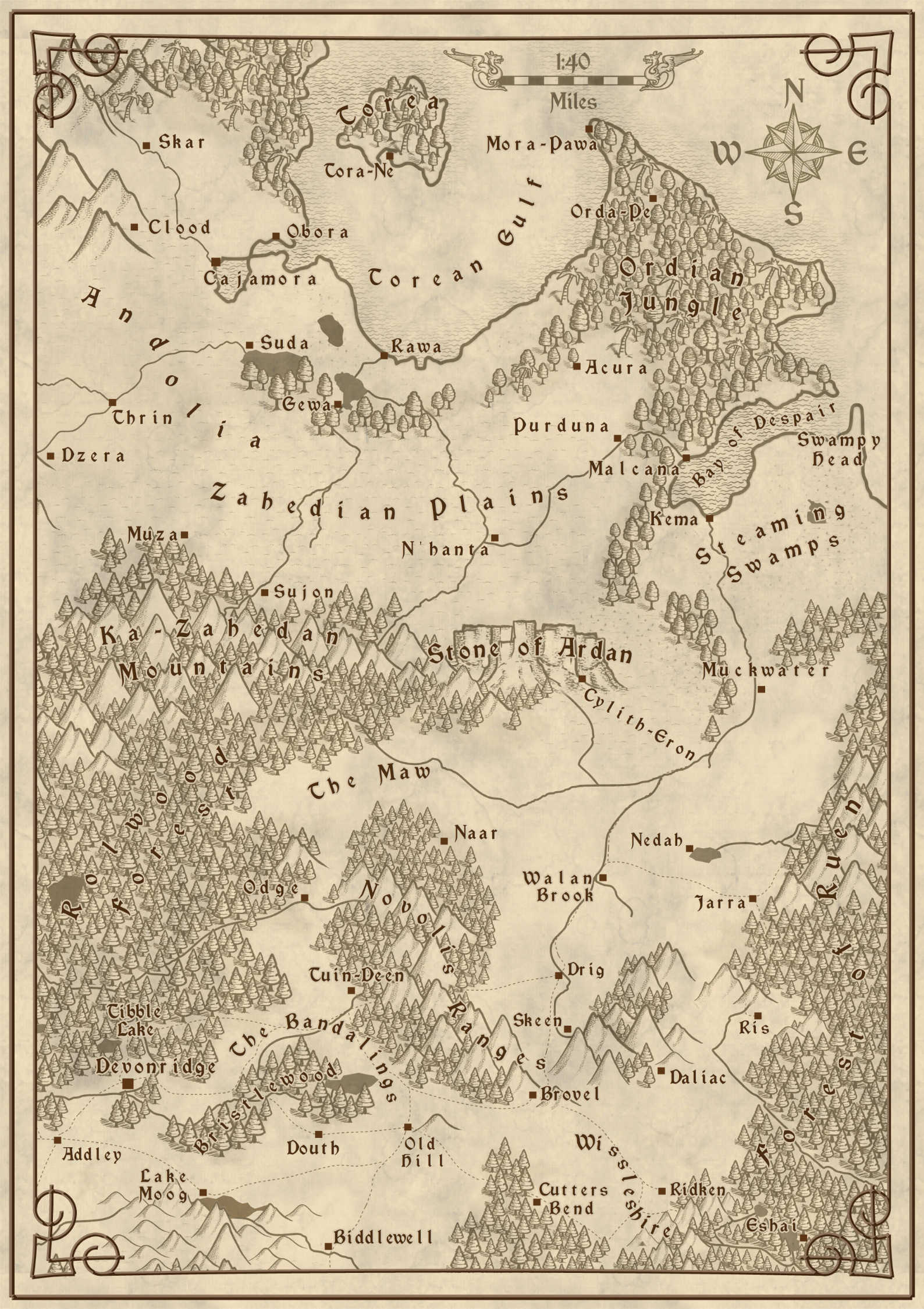 Heir of the Hunted Map 1